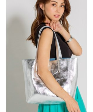 【MAURIZIO TAIUTI 】03-metallic leather tote bag