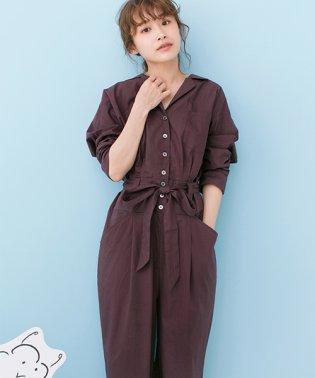 PBP高橋愛さんコラボ大人っぽく着られるコットンシャツオールインワン
