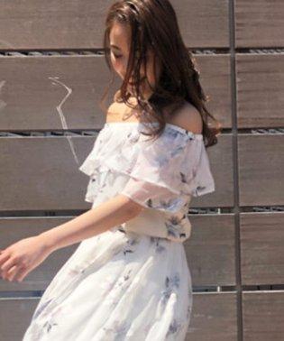 【セットアップ対応商品】オリジナル花柄オパールブラウス