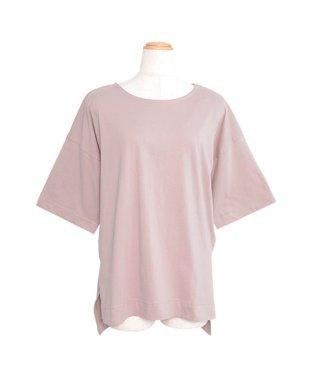 オーバーサイズヘムラインスリット半袖Tシャツ