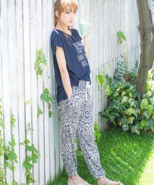 【上下セット】Dita(ディータ)天竺Tシャツ×ゆるてろパンツルームウェア