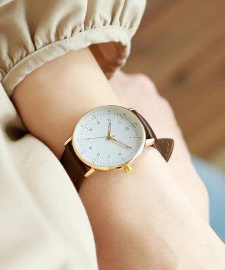 レザーバンド・シンプル腕時計