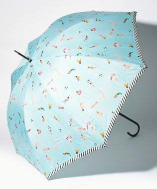 スイマー柄長傘雨傘