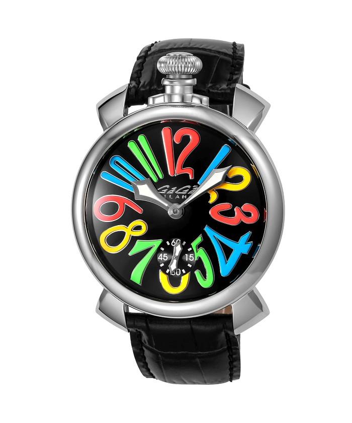 ガガミラノ時計5010.02S-BLK-NEW○