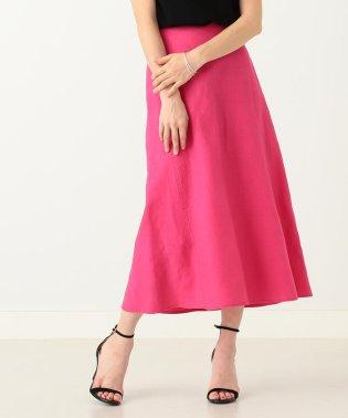 【洗える】Demi-Luxe BEAMS / リネン フィット&フレアスカート