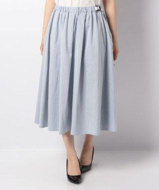 WEB限定【OEPP】シャンブレーストライプスカート