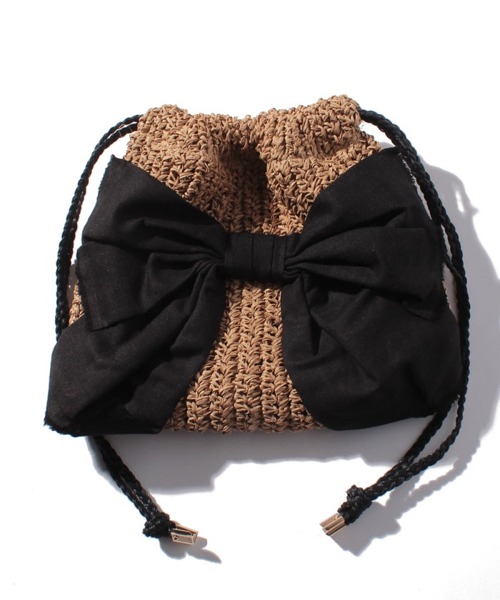 カカトゥ kakatoo / ペーパーリボン巾着バッグ