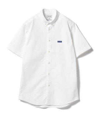 BEAMS / ストレッチ オックス エンブレム ボタンダウンシャツ