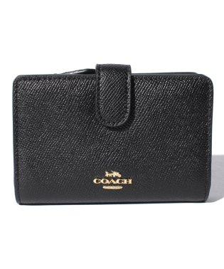 COACH OUTLET F11484 IMBLK 二つ折り財布