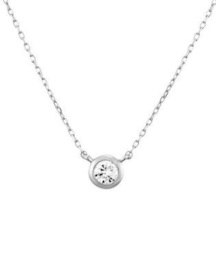 K18ホワイトゴールド ダイヤモンド ネックレス