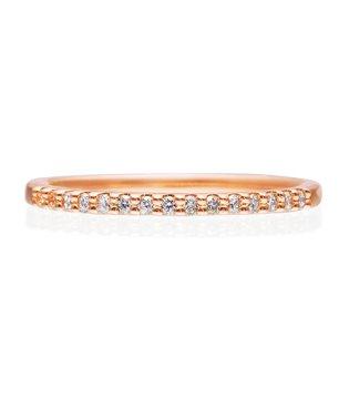 K10ピンクゴールド ダイヤモンド リング