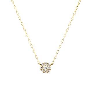 K10イエローゴールド ダイヤモンド ネックレス