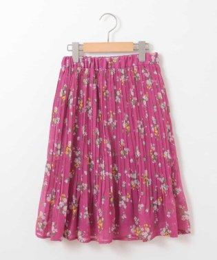 [140-150]花柄プリーツスカート