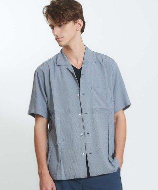 マイクロドットオープンカラー半袖シャツ