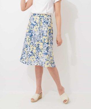 ボタニカルモチーフスカート