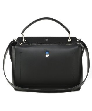 【FENDI】DOT COM / 2WAY BAG 【BLACK+ROYAL BLUE】