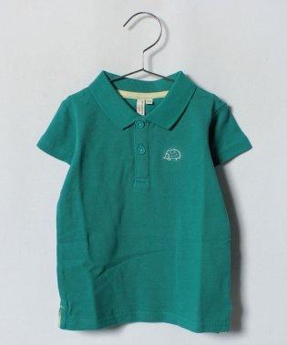ハリネズミ刺繍ポロシャツ