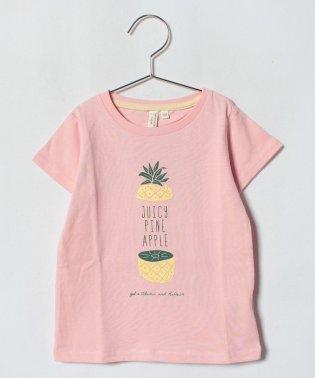 パイナップルプリントTシャツ
