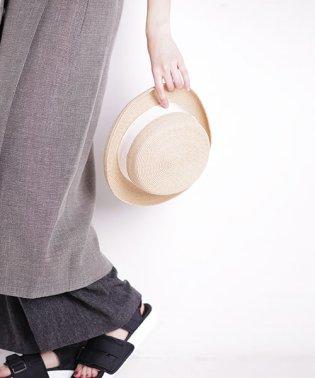 INFIELDER DESIGN/RAFFIA BRAID BOATER HAT