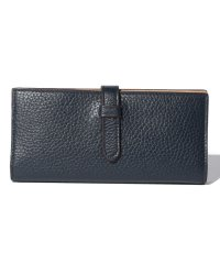 【J&M DAVIDSON】二つ折り長財布 / ELONGATED TAB WALLET 【NEW NAVY】