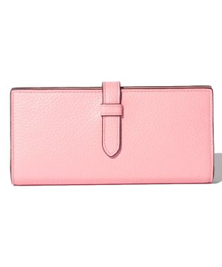 【J&M DAVIDSON】二つ折り長財布 / ELONGATED TAB WALLET 【CAMELIA PINK】