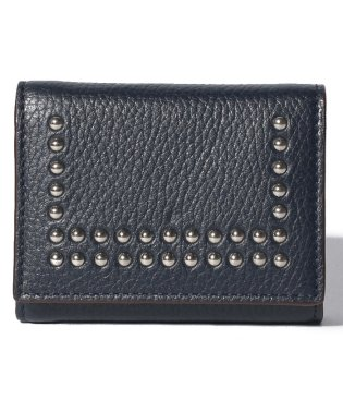 【J&M DAVIDSON】三つ折り ミニ財布 / SMALL FOLDED WALLET W/STUDS 【NEW NAVY】