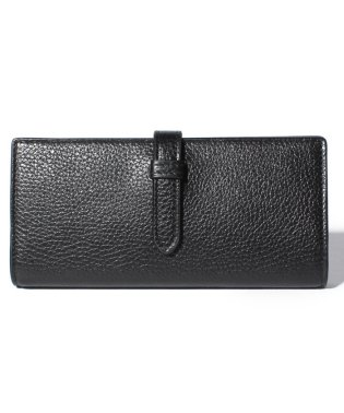 【J&M DAVIDSON】二つ折り長財布 / ELONGATED TAB WALLET 【BLACK】