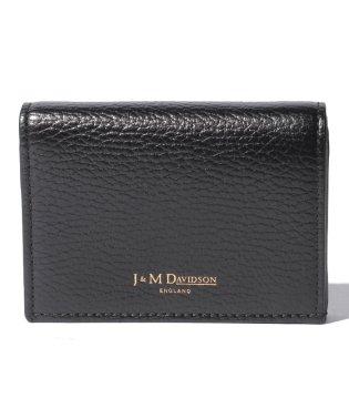 【J&M DAVIDSON】二つ折り ミニ財布 / ONE FOLD WALLET 【BLACK】