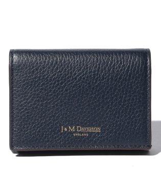 【J&M DAVIDSON】二つ折り ミニ財布 / ONE FOLD WALLET 【NEW NAVY】