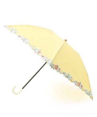 フラワースカラップ折りたたみ傘