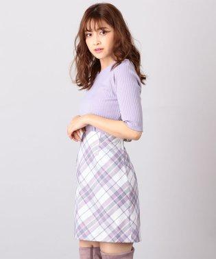 バイアスチェック柄スカート