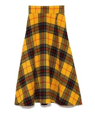 大柄チェックマキシスカート