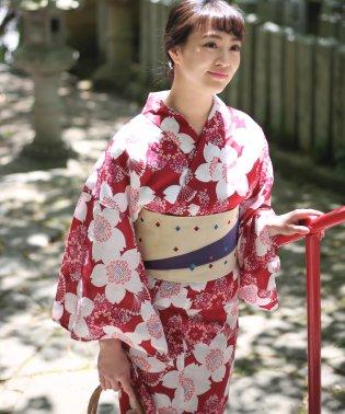 【WEB限定】浴衣3点セット◇レトロ桜柄 和装