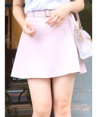 ベルト付フレアミニスカート