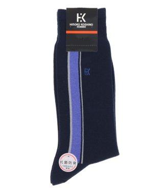 【大きいサイズのメンズ服・グランバック】HIROKO KOSHINO HOMME ポイントストライプ柄クルーソックス(靴下)