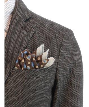 イタリア製小紋柄ポケットチーフ