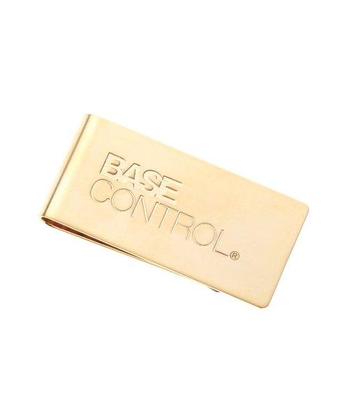 (BASECONTROL/ベースコントロール)マネークリップ ブランドロゴ WEB限定/メンズ ゴールド(007)