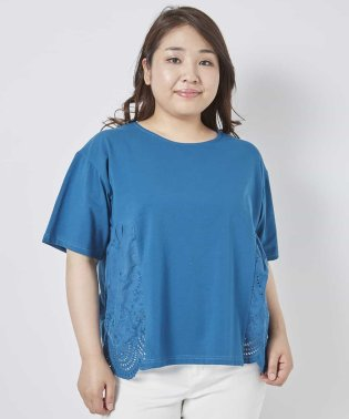 【大きいサイズ】裾スカラレースカットソー