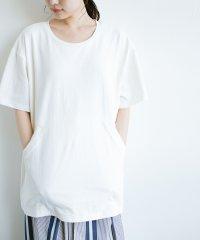 女の子バンザイプロジェクト【ブルー期】 PBPオーガニックコットンのおなかポケット付きTシャツ