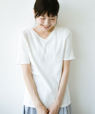 haco!女の子バンザイプロジェクト【キラキラ期】 ここぞ!とばかりに華奢見せ女っぽTシャツ