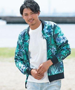 VICCI【ビッチ】ボタニカル柄メッシュMA-1ジャケット