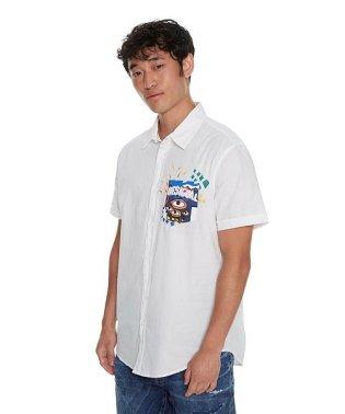 「Desigual/デシグアル」シンプルな白半袖シャツ