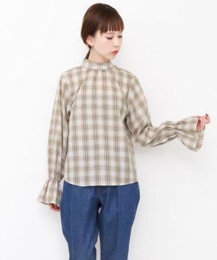 【KBF】スタンドネックチェックシャツ