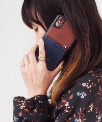 〈Kajsa/カイサ〉iPhone XS / iPhone X Denim Pocket Backcase/デニムポケット バックケース