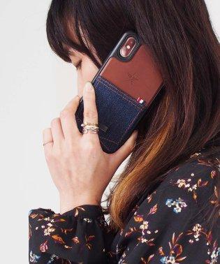 〈Kajsa〉iPhone X Denim Pocket Backcase