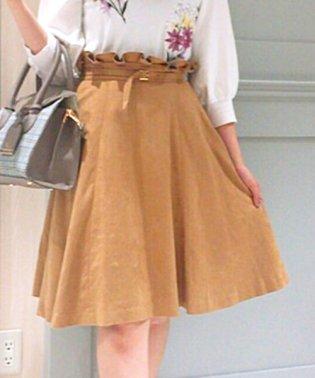スエードフレアスカート