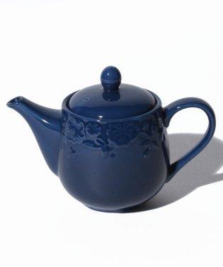 フラワーレリーフ茶漉し付きティーポット
