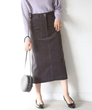 コーデュロイストレッチタイトロングスカート