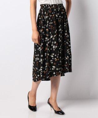 ボタニカルフラワー柄フィッシュテールスカート