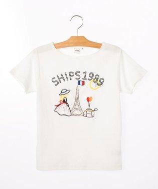 SHIPS KIDS:エンブロイダリー TEEシャツ(140~150cm)